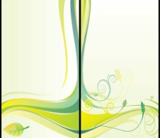 矢量花纹艺术玻璃树叶图片